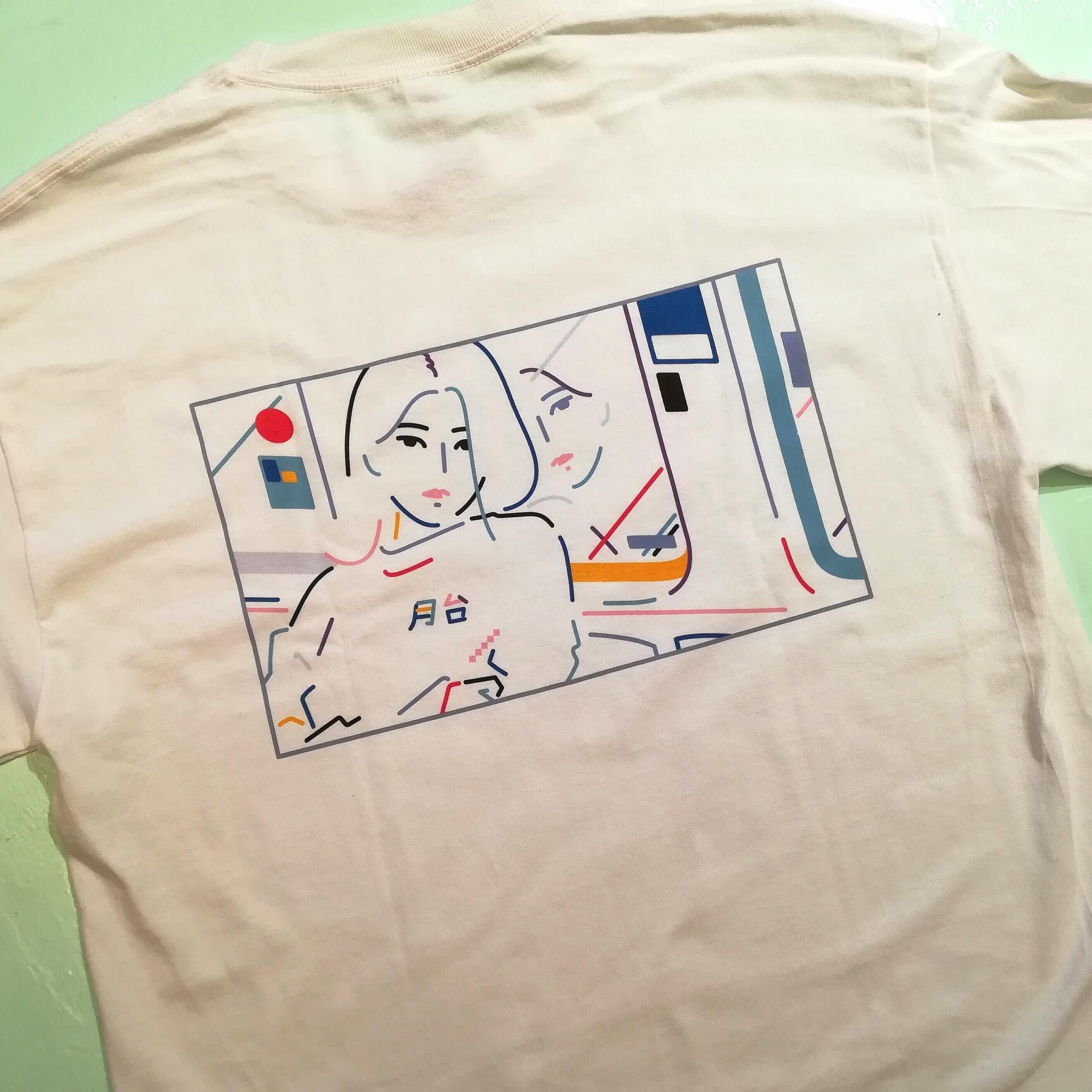 PLATFORMバックプリントロングスリーブTシャツ