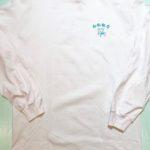 台風飯店バックプリントロングスリーブTシャツ WHITE