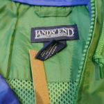 USED LAND'S END Anorak Parka GREEN