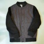 USED Old Navy Stadium Jumper BLACK×GRAY