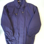 USED Mackintosh Stand Collar Coat NAVY