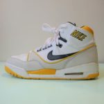 USED NIKE AIR ASSAULT HIGH WHITE