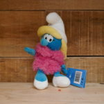 SOFT TOY SMURF SMURFETTE PINK DRESS