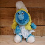 SOFT TOY SMURF SMURFETTE PRINT DRESS VINTAGE