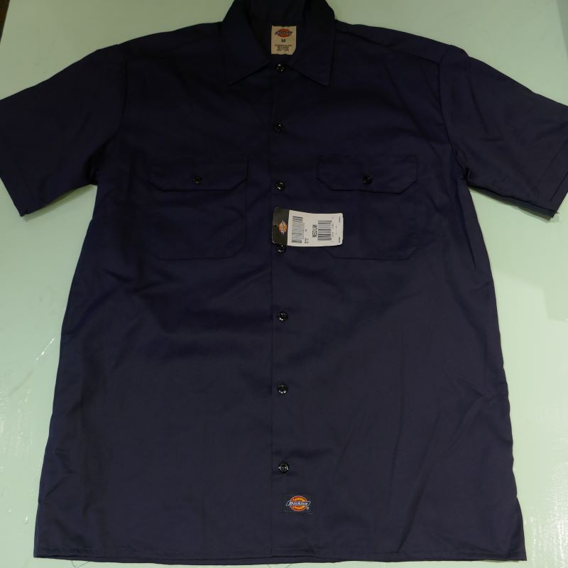 USED DICKIES S/S WORK SHIRT NAVY M
