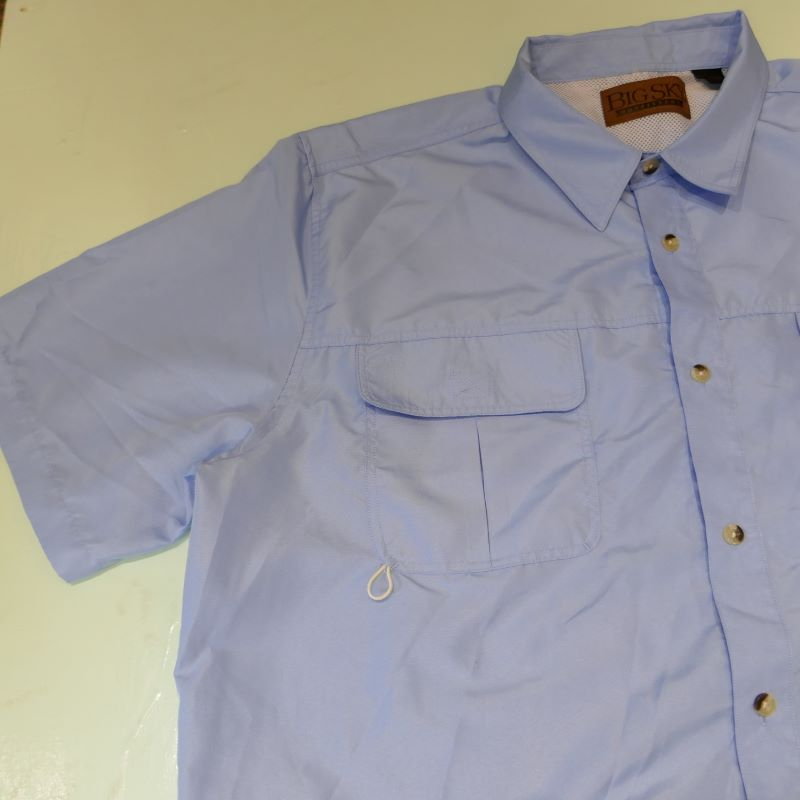 USED BIG SKY OUTFITTERS S/S SHIRT BLUE