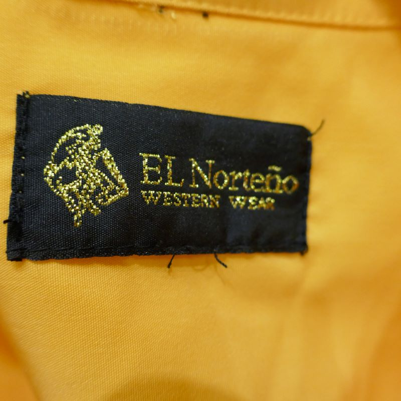 USED EL NORTENO S/S GUAYABERA SHIRT YELLOW