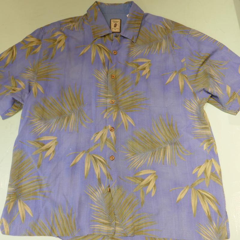 USED JAMAICA JAXX  S/S SILK ALOHA SHIRT BLUE