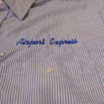 USED REDKAP AIRPORT EXPRESS S/S STRIPE SHIRT BLUE