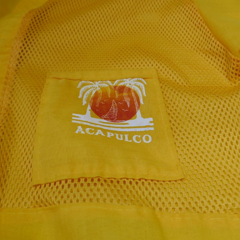 USED ACAPULCO MESH SHIRT YELLOW