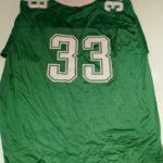 USED REEBOK MSU #33 S/S FOOTBALL JERSEY SHIRT GREEN