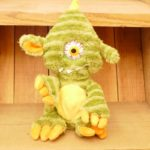 SOFT TOY Sound N Light Animatronics Singing Animated Cyclops Monster Plush GREEN