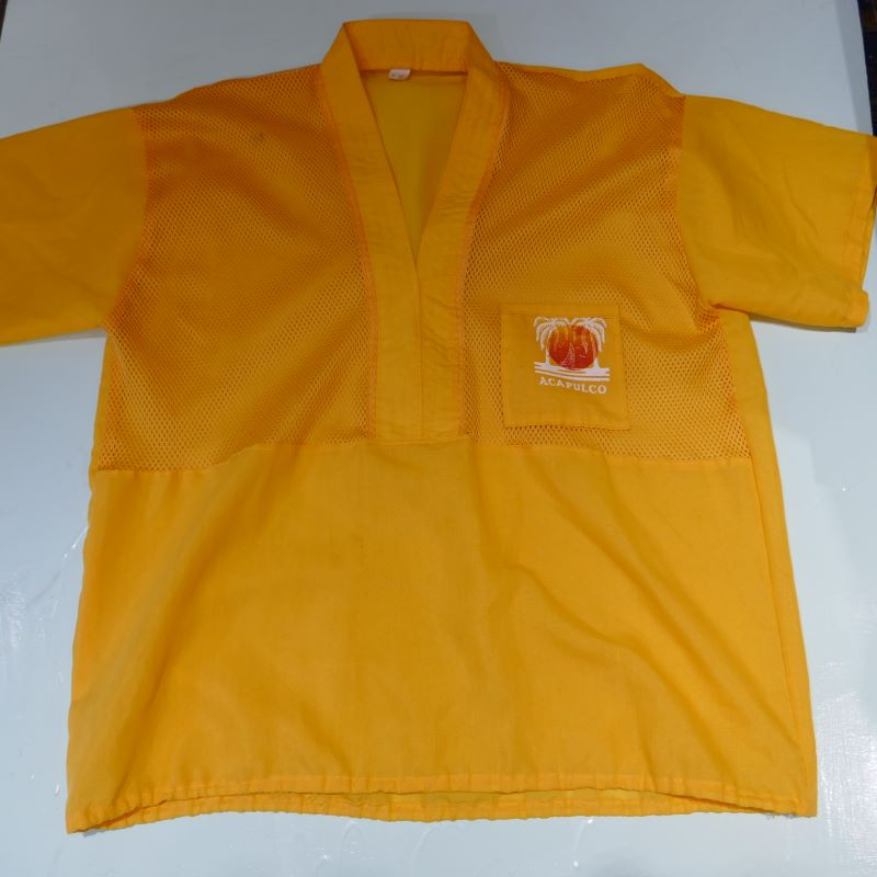 USED ACAPULCO MESH SHIRT YELLOW