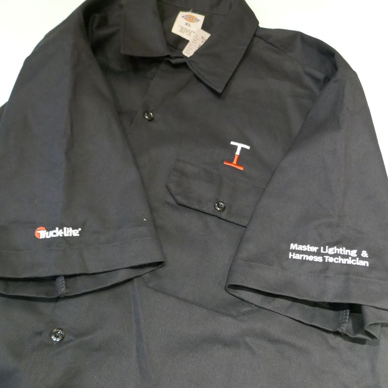 USED DICKIES TRUCK-LITE S/S WORK SHIRT BLACK