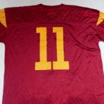 USED NIKE USC TROJANS #11 S/S FOOTBALL JERSEY BURGUNDY
