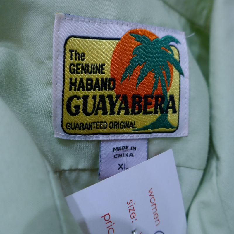 USED THE GENUINE HABAND GUAYABERA S/S SHIRT LIGHT GREEN