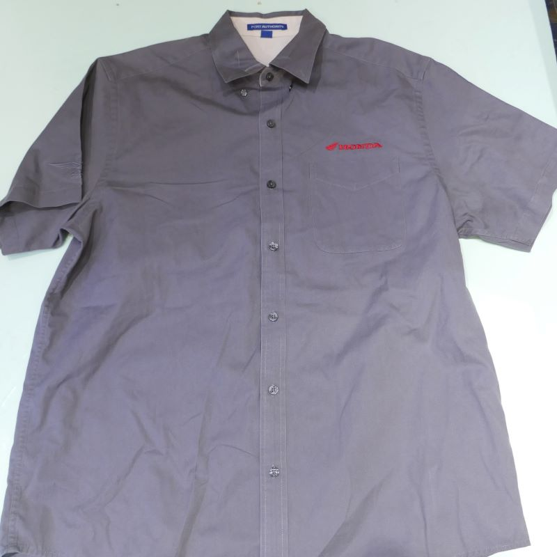USED HONDA S/S WORK SHIRT GRAY