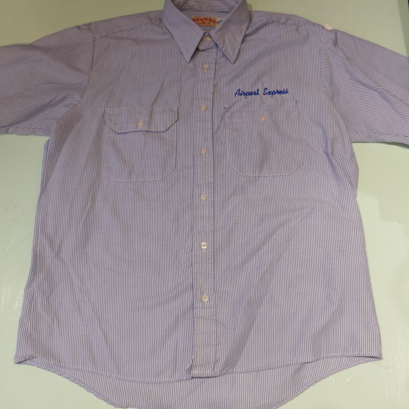 USED REDKAP AIRPORT EXPRESS S/S STRIPE SHIRT BLUE