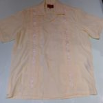 USED MAXIMOS S/S GUAYABERA SHIRT LIGHT YELLOW