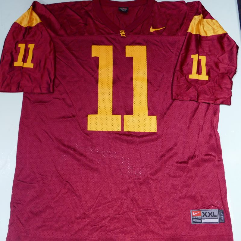 USED NIKE USC TROJANS #11 S/S FOOTBALL JERSEY BURGUNDY