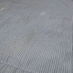 USED BRUNO NEW YORK STRIPE S/S CREPE SHIRT WHITE