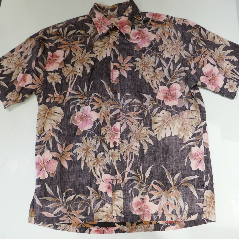 USED COOKE STREET S/S ALOHA SHIRT BLACK