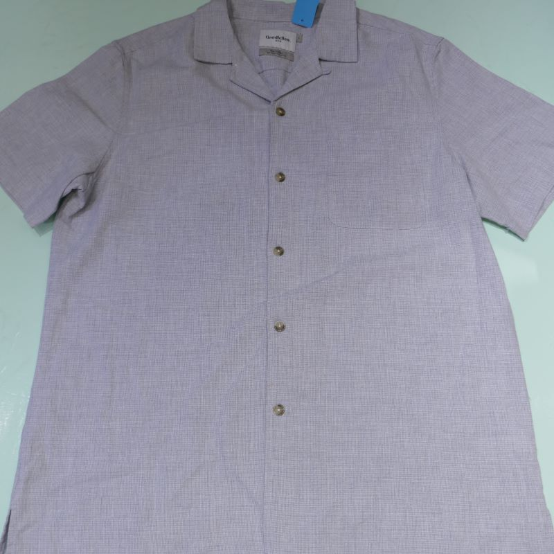 USED GOODIELLOW&CO S/S OPEN COLLAR SHIRT LIGHTBLUE