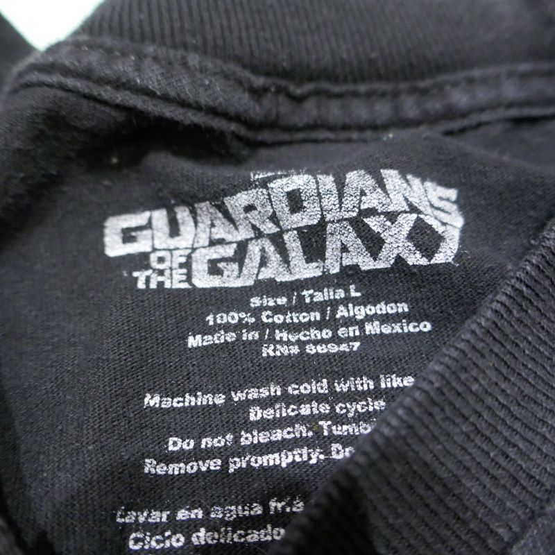 USED GUARDIANS OF THE GALAXY TEE BLACK