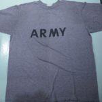 USED US ARMY REFLECTOR PRINT TEE GRAY