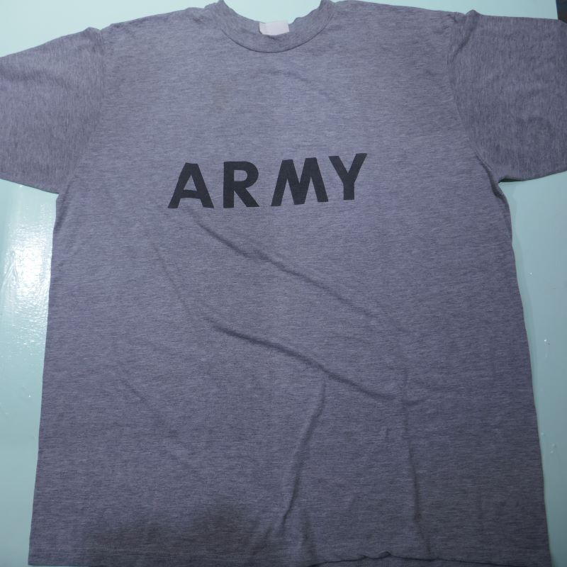 VINTAGE US ARMY REFLECTOR PRINT TEE GRAY