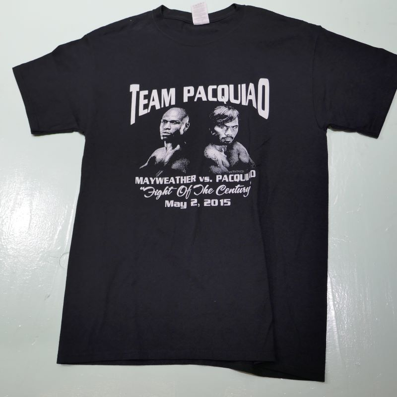 USED TEAM PACQUIAO TEE BLACK