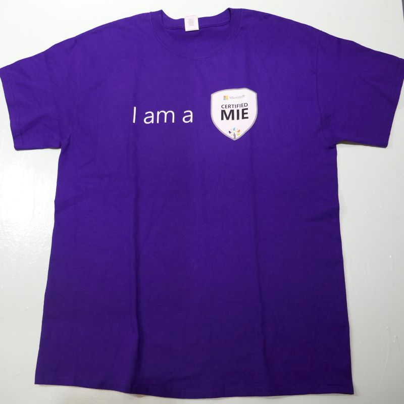 USED MICROSOFT TEE PURPLE