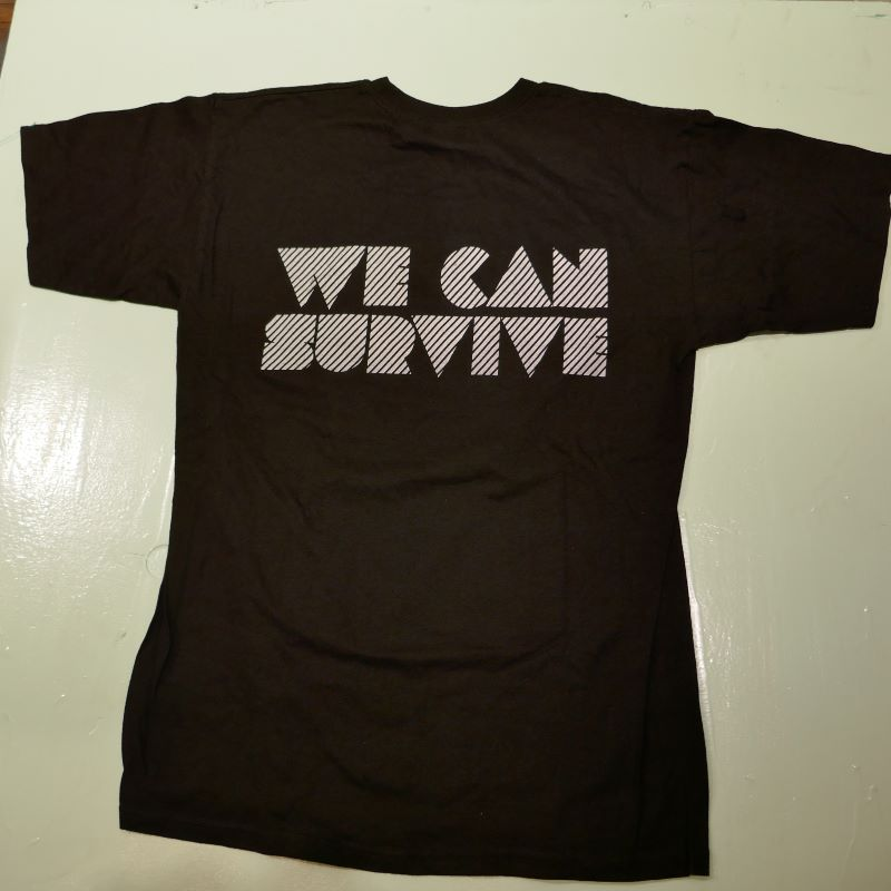 USED WE CAN SURVIVE 2014 TEE BLACK