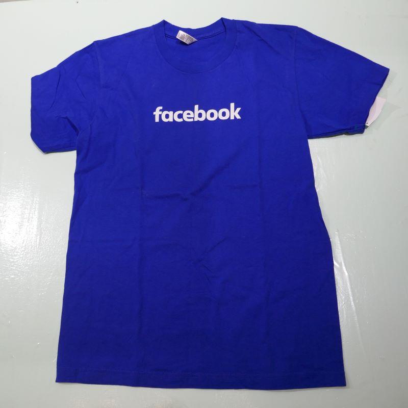 USED FACEBOOK TEE BLUE