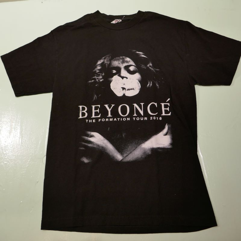 USED BEYONCE THE FORMATION TOUR TEE BLACK