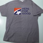 USED FIRST TENNESSEE BANK[HERE FOR GOOD] TEE GRAY