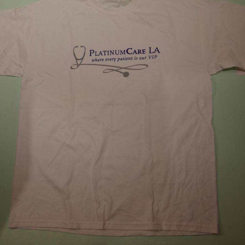 USED PLATINUM CARE LA TEE WHITE