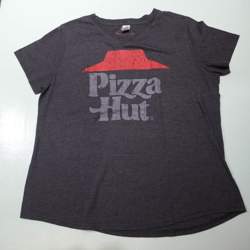 USED PIZZA HAT TEE GRAY