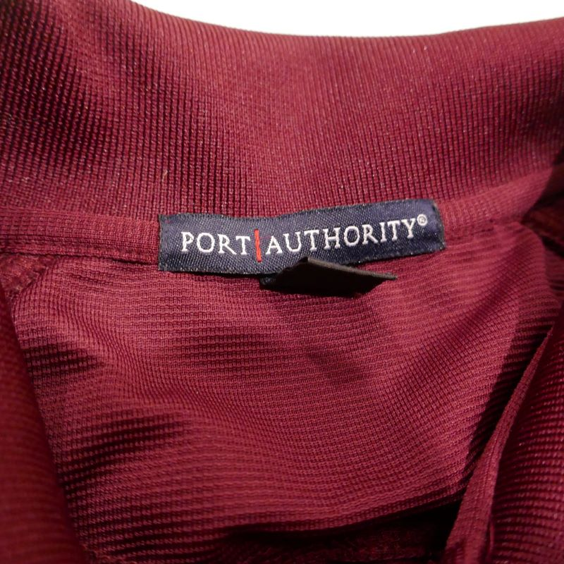 USED PORT AUTHORITY BTIS S/S JERSEY POLO SHIRT BURGUNDY