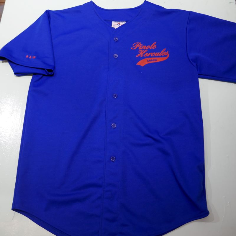 USED TEAM WORK ATHLETIC APPAREL S/S BASEBALL SHIRT ROYALBLUE