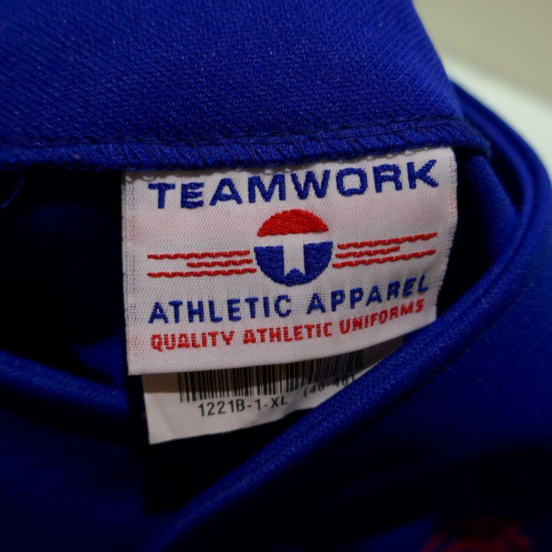 USED TEAM WORK ATHLETIC APPAREL S/S BASEBALL SHIRT ROYALBLUE