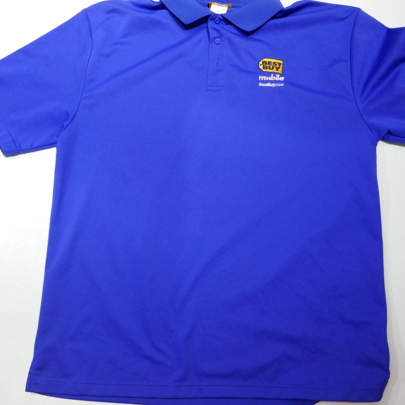 USED BEST BUY S/S POLO SHIRT BLUE