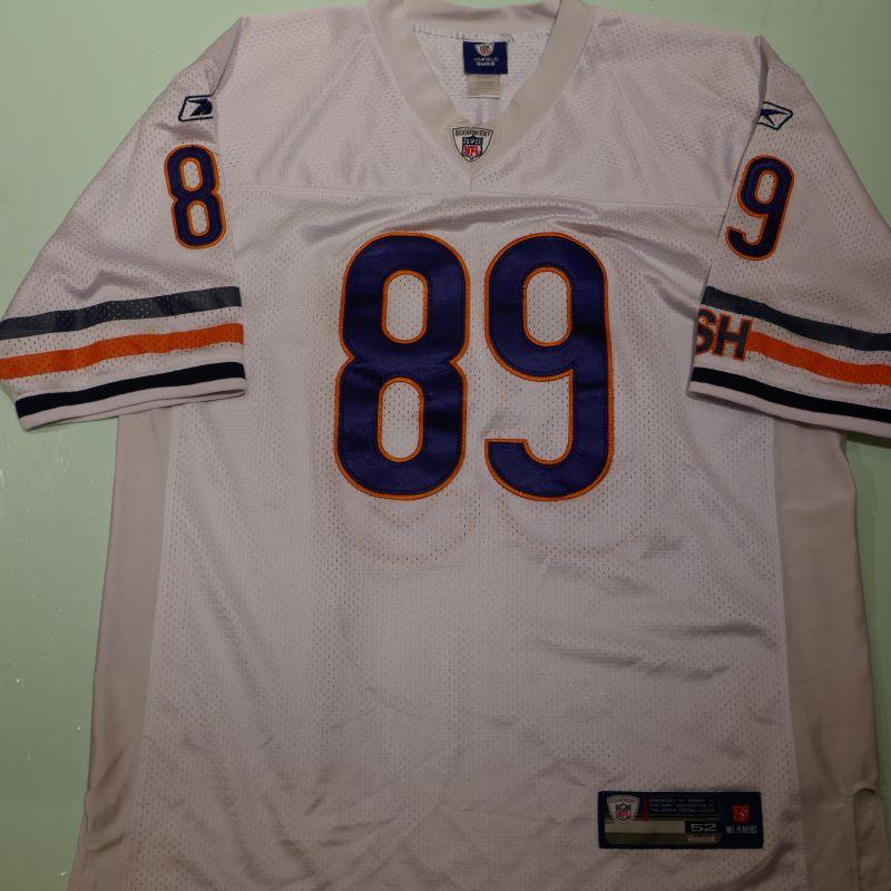 USED REEBOK CHICAGO BEARS #89 S/S FOOTBALL JERSEY SHIRT WHITE