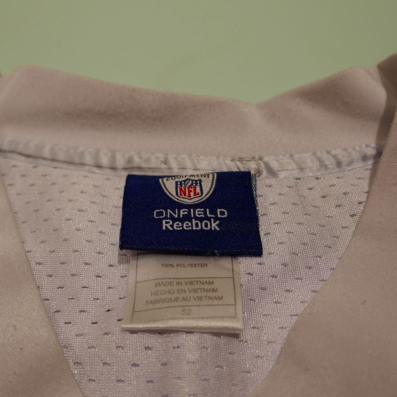 USED REEBOK CHICAGO BEARS #89 S/S FOOTBALL JERSEY SHIRT WHITE