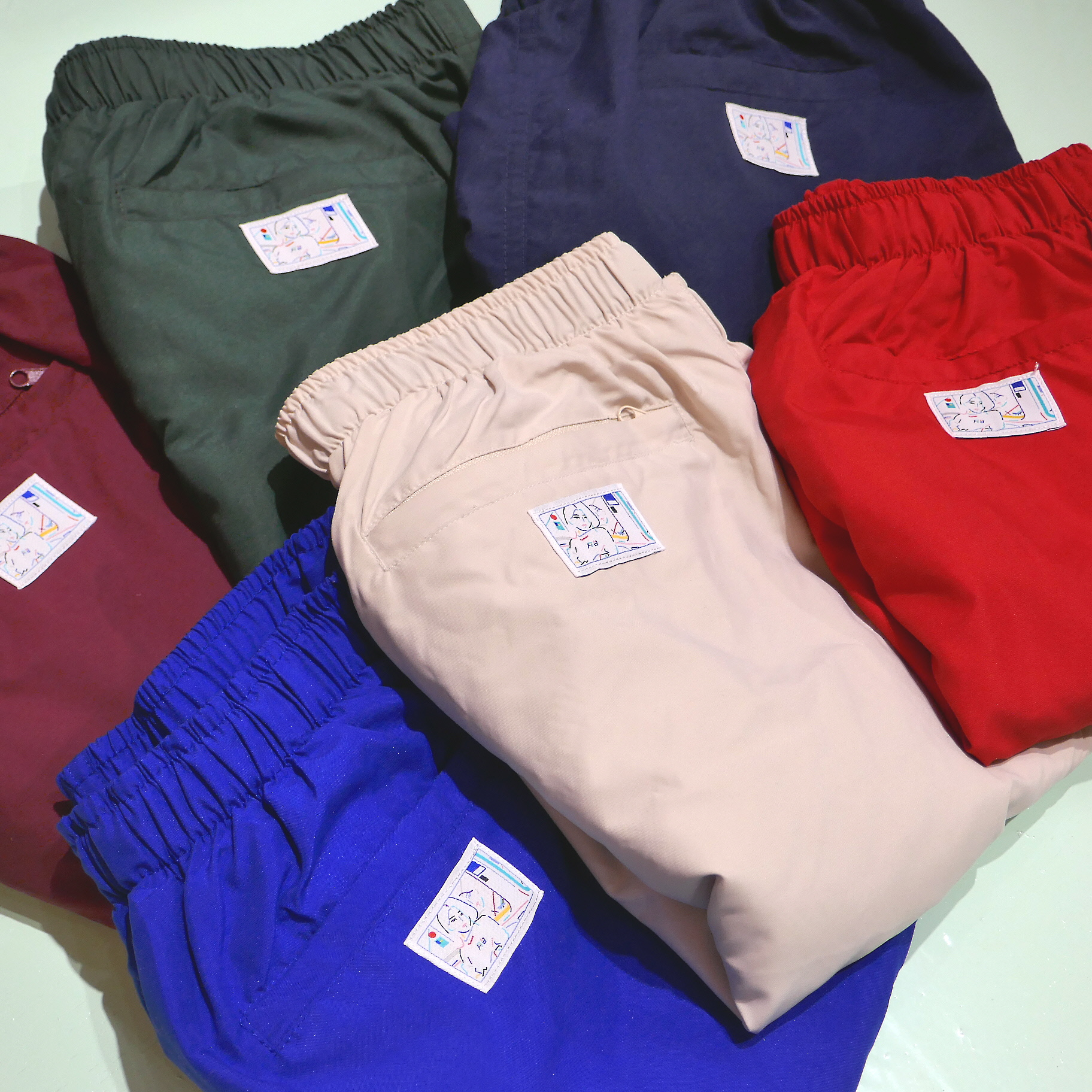 PLATFORM COLOR MICROFIBER SHORT PANTS 7COLORS