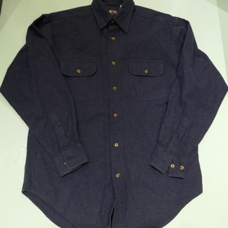 USED FALCON BAY L/S FLANNEL SHIRT NAVY