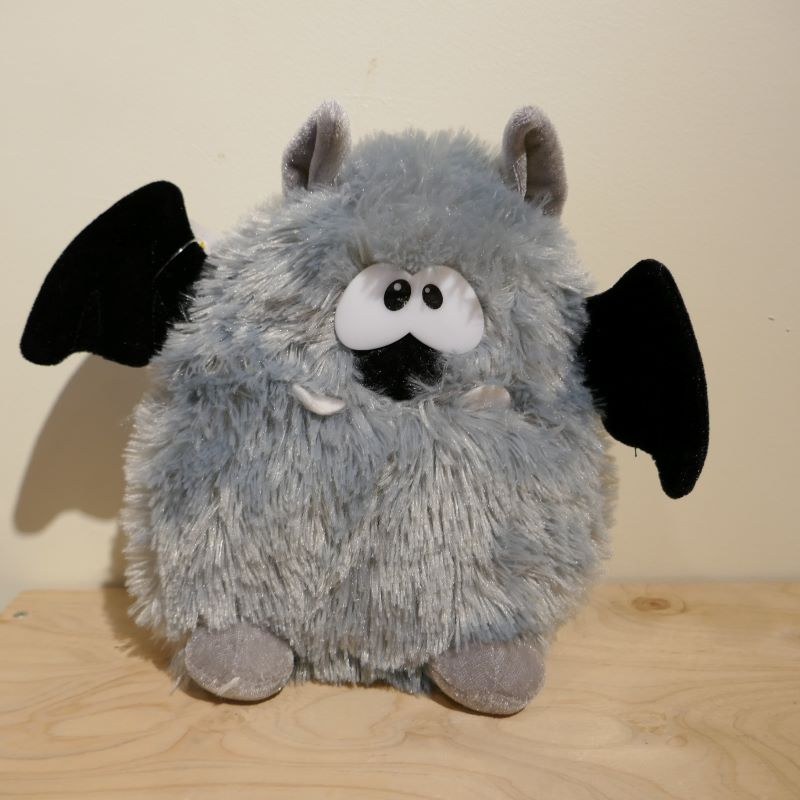 SOFT TOY Six Flags theme park Halloween gray bat