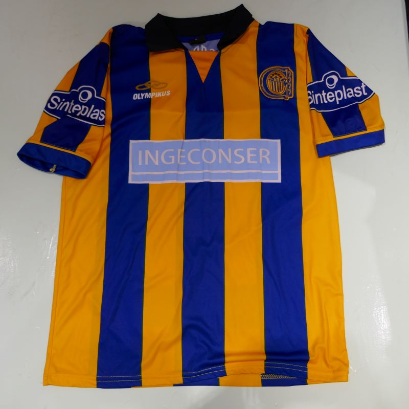 USED OLYMPIKUS ROSARIO CENTRAL S/S JERSEY SHIRT BLUE/YELLOW