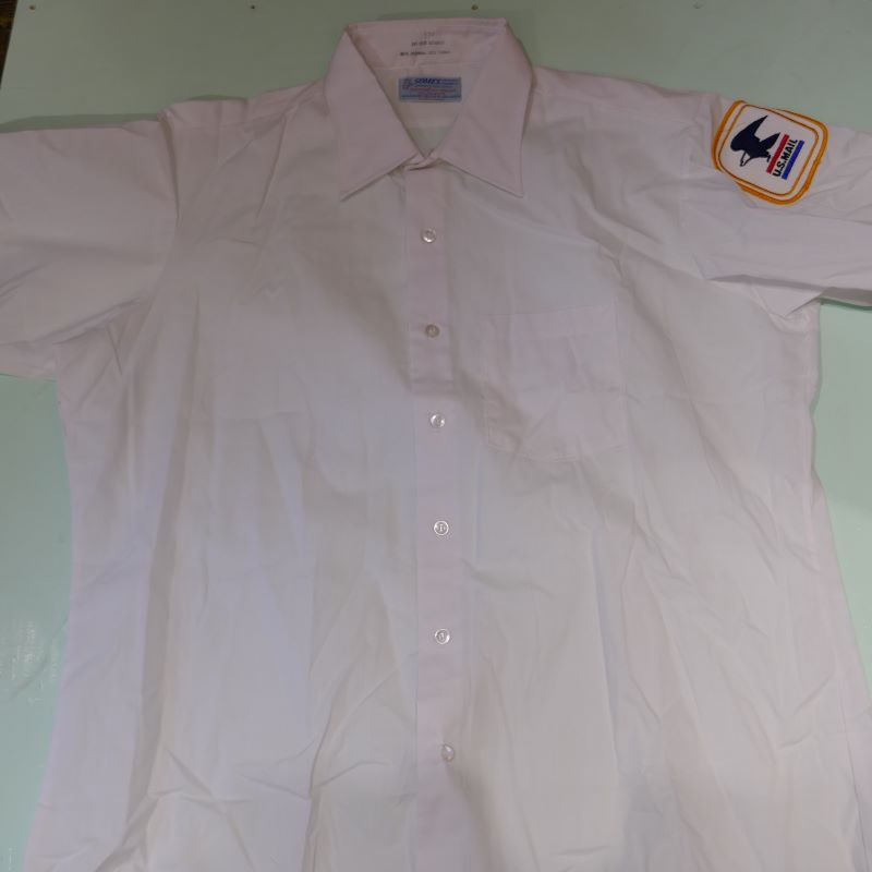 USED U.S MAIL S/S UNIFORM SHIRT WHITE
