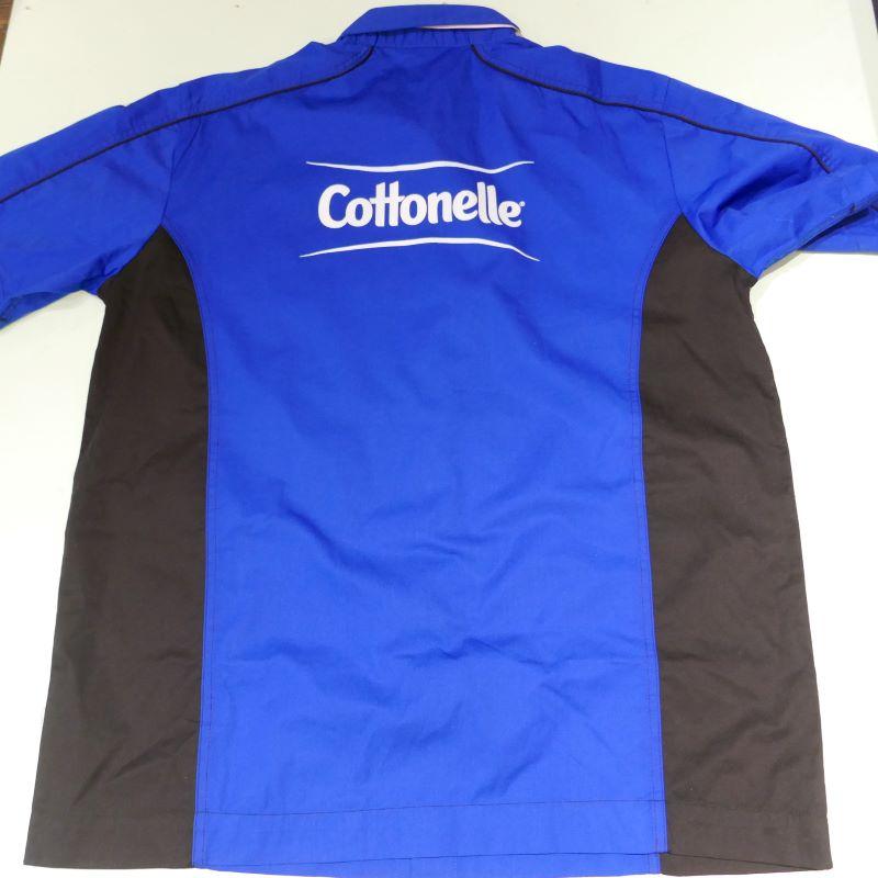 USED COTTONELLE S/S STAFF SHIRT BLUE×BLACK